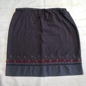Eddie Bauer Dk Gray/Burgundy Skirt